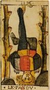 L'Appeso nei tarocchi di Jean Dodal