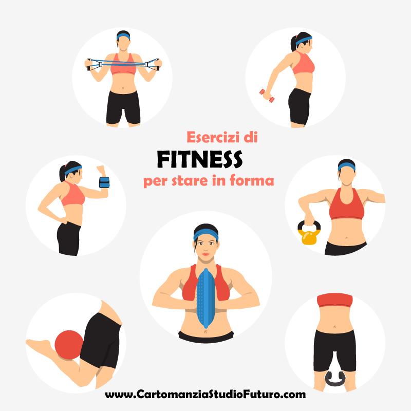 Rimettersi in forma con gli esercizi di fitness che si possono fare in casa e in palestra.